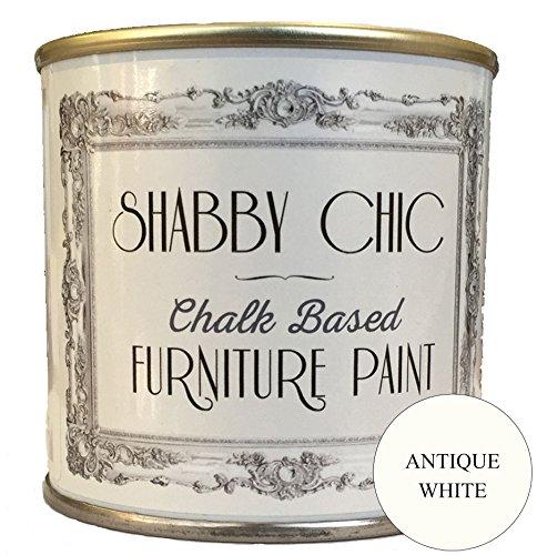 Vernice per mobili a gesso bianco anticato, ideale per creare un stile shabby chic. 2.5litri