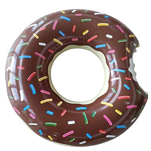 Amaoma Donut Hinchable Flotador Donut Flotador Hinchable con Forma de Donut Flotador Inflables 90cm Rueda Hinchable Donut Natación Playa o Piscina Juguete para Adulto y Niño, Marron