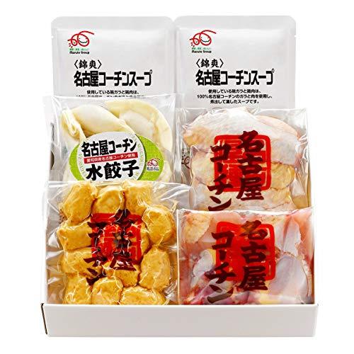 名古屋コーチン鶏鍋 セット スープ 骨付きぶつ切肉 つくね 手羽先 水餃子 鍋セット 冷凍 国産