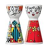 Ritzenhoff Mr. Salt & Mrs. Pepper Salz- und Pfefferstreuer, Kristallglas, Bunt, 3.6 cm -