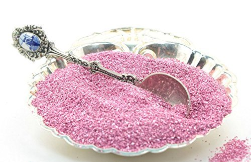 Rose Pastel Imported German Glass Glitter - 1 Ounce Jar - Fine 90 Grit (Most Popular Grain Size) Sparkly Glass Glitter - 311-9-165