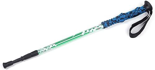 Ofliery portable Alpenstocks Béquilles à Trois Sections en Alliage d'aluminium Ultra-léger avec poignées Droites Barres de Trekking Ajustables et rétractables pour Les Amateurs de Plein air