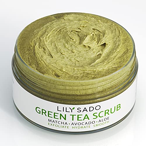 LILY SADO MATCHA MADE IN HEAVEN Facial Scrub - Best Daily Facial Exfoliating Cleanser for Women & Men - Vegan Face Wash Exfoliates Skin, Treats Acne, Reduces Pore Size - For All Skin Types - 4 oz
