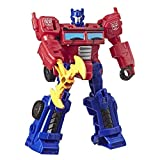 Transformers Toys Cyberverse Action Attackers Scout Class Optimus Prime Action Figure - Repeatable Energon Axe Attack Move - for Kids Ages 6 & Up, 3.75'