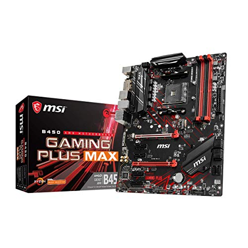 MSI B450 GAMING PLUS MAX, Scheda Madre con Core Boost, Turbo M.2, Socket AM4, Memorie DDR4, Form factor ATX, Connettore USB 3.2 Gen2