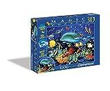 Clementoni 39186.8 - Puzzle Magic 3D 1000 teilig Dolphin Reef