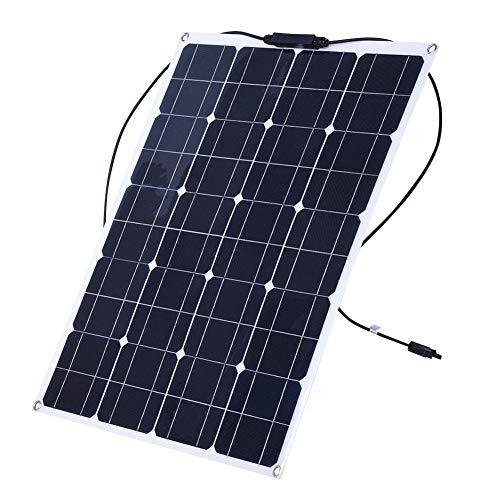 Monokristallijn zonnepaneel, 80 W, semi-flexibele solarmodule, buigbaar, auto, boot ultralichte 12 V oplader op zonne-energie voor buiten en op de camping.