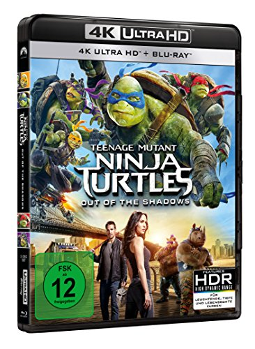 Teenage Mutant Ninja Turtles - Out of the Shadows (4K Ultra HD) (+ BR) [Blu-ray]