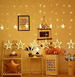 Altino LED Curtain String Lights and 130 Pieces and 8 Modes Lights (Star-Yellow)