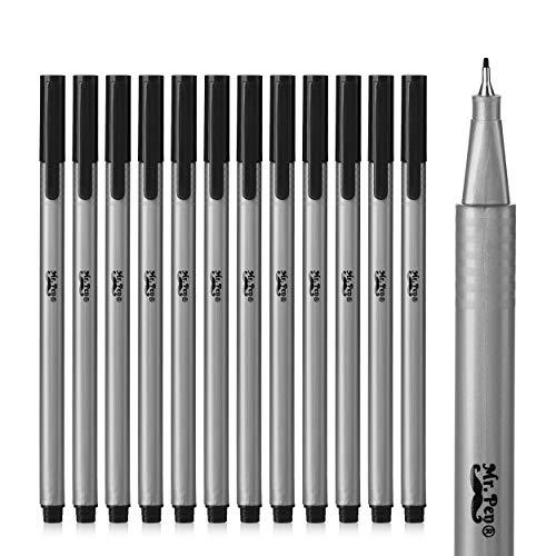 Mr. Pen- Black Fineliner Pens, 12 Pack, Black fine point pens, Pens Fine Point, Fine Liners Artists, Fineliners Pens, School Supplies, Art Pens, Writing Pens, Fine Tip Markers, Bible Journaling Pens
