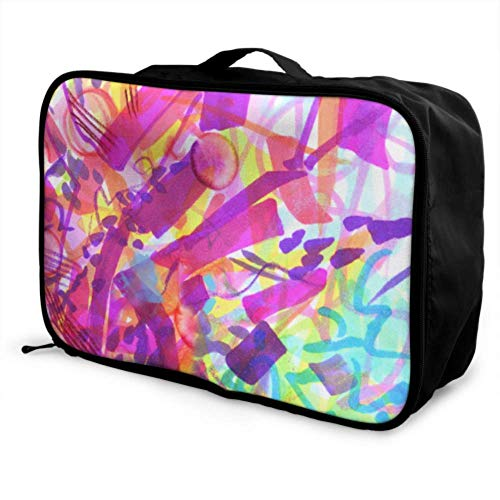 Custom Garment Storage Bags Lightweight Fashion Cute National Colorful Painting Best Travel Duffel Bag Foldable Portable Storage Luggage Bag With Trolley Sleeve