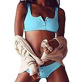 Bandeau bikini con diseño de botón, INDEXP Ladies Girls Acolchada push-up traje de baño Verano Pisci...