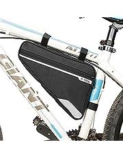 COMBLU Fietsframetas, waterdicht, fietstas frame fiets driehoekige tas triangeltas Tashe reflecterend voor mountainbike MTB racefiets mobiele telefoon sleutel handschoenen fietsslot gereedschap