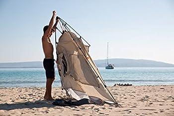 Plage Protection kohu mâcher Plus dans 2de Terra Nation en deux couleurs   Tente de plage avec ouverture et de fermeture automatique Système, sable
