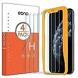Amazon Brand - Eono 4 Stück Schutzfolie kompatibel mit iPhone 11 Pro/iPhone XS/iPhone X, 2.5D, 9H, Anti-Kratzen,Hülle Fre&llich,mit Schablone