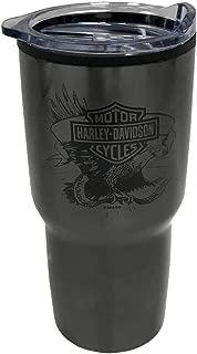 Harley-Davidson Legendary Eagle Stainless Steel Travel Cup, Dark Gray - 30oz.