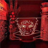 ナルトウヒャ大手3DナイトライトLEDランプShippuden Anime Fight Lampara Home Decoration照明寝室装飾マンガライト-リモコン