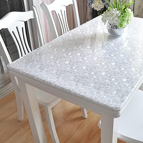 LIUJIU Plenmor - Mantel de plástico para mesa cuadrada, de PVC, lavable, resistente al aceite, resistente al agua, resistente a las manchas, resistente al moho, 100 x 160 cm