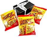 Cloetta KEX Choklad Filled Wafers in Milk Chocolate, 5.5 oz Bags in a BlackTie Box (Pack of 3)