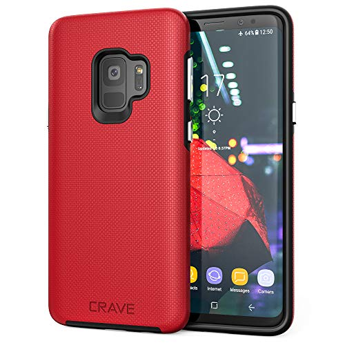 S9 Case, Crave Dual Guard Protection Series Case for Samsung Galaxy S9 (Red)