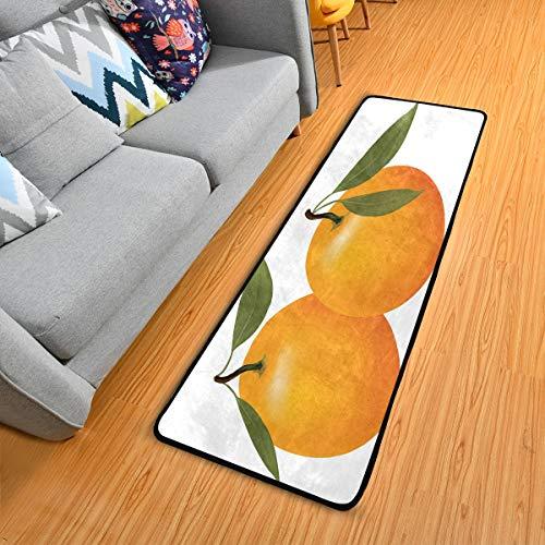Area Rug Runner Best Orange Non Slip Outdoor Runner Rug Entry Long Carpet Anti Fatigue Comfort Floor Mat Indoor Cushioned Door Mats for Sofa Entryway Kitchen 2' x 6'