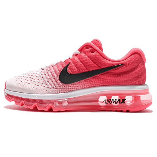 Nike WMNS AIR MAX 2017 Womens Shoes 849560-103 Size 11 US, White/Black/Hot Punch