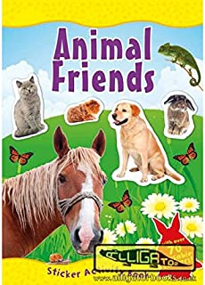 The Home Fusion Company Amazing World Animal Friends Sticker Activity Book Over 70 Reusable Stickers