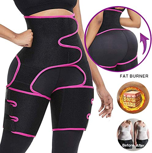 Product Image 4: YWYJOSOF Waist Trainer for Women, 3 in 1 Waist Thigh Trimmer and Weight Loss Butt Lifter Shaper for Workout,Training Fitness Shapewear Body Shaper Belt for Weight Loss Thigh Trimmers