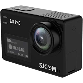 SJCAM SJ8 Pro 4k Action Camera WiFi Digital Ultra Full HD with Touchscreen 60fps EIS Stabilized Raw Image 1200mAh Battery 5G WiFi Sports Cam (Waterproof Case & Accessories Included)-Black