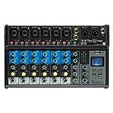 British Acoustics LiveMix 8.2FX - 8 Channel Compact Analogue Mixer with Bluetooth, USB