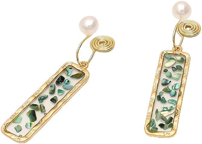 NC Ear Clip Earrings Earrings Mosquito coils Without Pierced Earrings for Women-Green