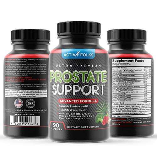 ActivFolks Prostate Supplements for Men 90 Caps Saw Palmetto, Vit E, Selenium reduces Frequent Urination, Supports Urinary Tract Health, DHT Blocker, Hair Loss & Regulates Testosterone 30+ Ingredients