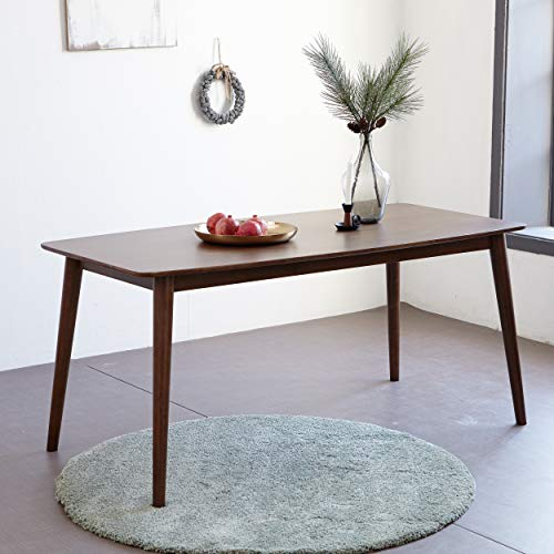 Livinia Aslan 59.1' Dining Table/Mid Century Modern Solid Rubber Wood Kitchen Table