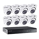 Hikvision - Kit vidéo surveillance Turbo HD 8 caméras dôme