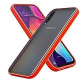 Cadorabo Hülle kompatibel mit Samsung Galaxy A50 / A50S / A30S in Matt Rot - Schwarze Tasten - Handyhülle mit TPU Silikon Innenseite & Matter Kunststoff Rückseite - Schutzhülle Hybrid Hardcase