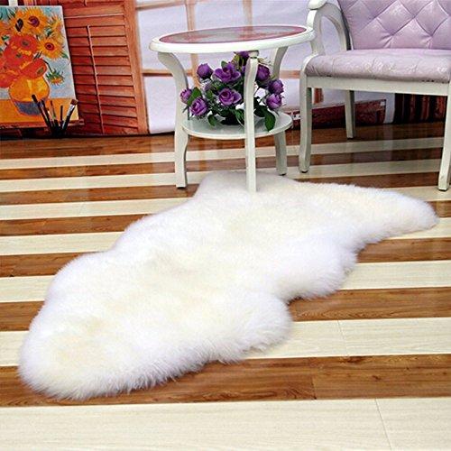 Rosepoem - Funda para silla de piel de oveja suave y cálida, alfombra peluda, color liso, suave y esponjosa, lavable para dormitorio