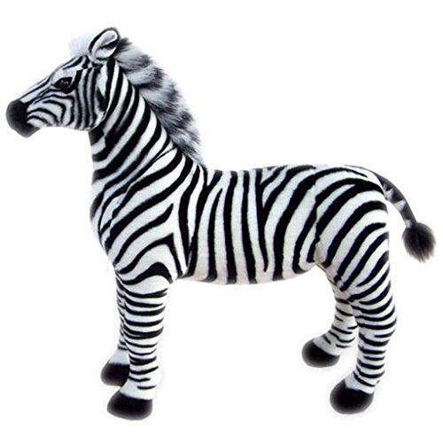 JESONN Stuffed Animals Toys Horse Plush 12 Inch (Zebra)