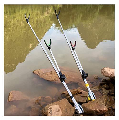 Aiglen Soporte de caña de Pescar Soporte de ángulo Ajustable Soporte de cañas de Pescar 1,5 M 1,7 M 2,1 M 2,4 M Herramienta de Pesca telescópica Soporte de caña de Mano (Size : 2.1m)