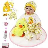 22 Pulgadas Reborn Baby Dolls Girls Real Silicona Vinilo Realista Recién Nacido 55cm Realista Baby Reborn Dolls para niños
