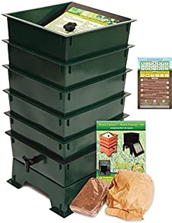 Worm Factory DS5GT 5-Tray Worm Composting Bin + Bonus