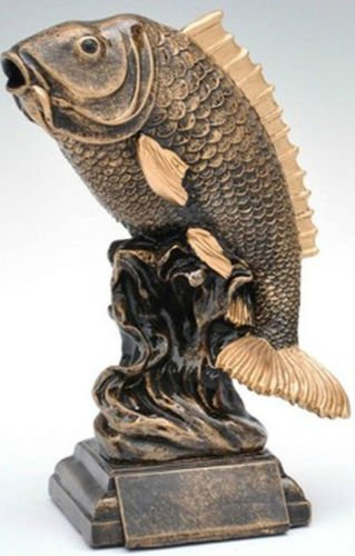 RaRu Angler-Pokal Resin-Figur mit Wunschgravur