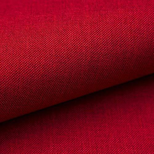 HEKO PANELS Tissus d'ameublement au Metre - Rembourré pour chaise, canapé, fauteuil, etc. – Rouge