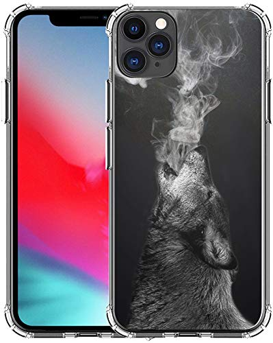 Case for iPhone 12 Pro Max Wolf & MUQR Gel Silicone Slim Drop Proof Heavy Duty Protection Cover Compatible for iPhone 12 Pro Max & Cool Wolf Animal