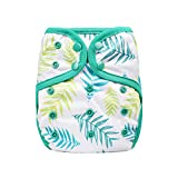 OsoCozy One Size Cloth Diaper Covers (Ferns) Adjustable...