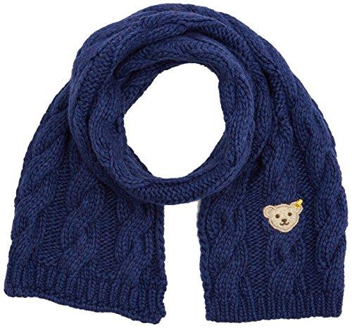 Steiff Mädchen Strick Schal, Blau (Estate Blue 3380), I (Herstellergröße: One Size)