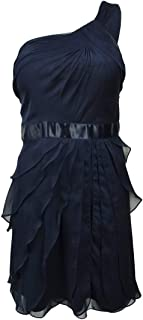 Women's Tiered Chiffon One Shoulder Dress