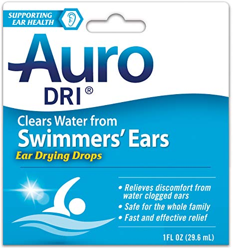 Auro Dri Swimmer's Ears Drying Drops | Relives Discomfort from water clogged ears | 1 oz | Pack of 6