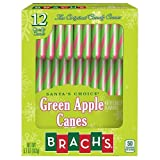 Brach s Green Apple Candy Canes .475 oz. - Box of 12