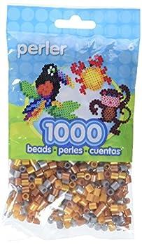 Perler Beads Fuse Beads for Crafts 1000pcs Metallic Mix