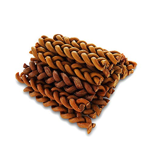 PET SPPTIES Braided Bully Stick for Dogs Natural Low-Odor Jumbo Dog Dental...